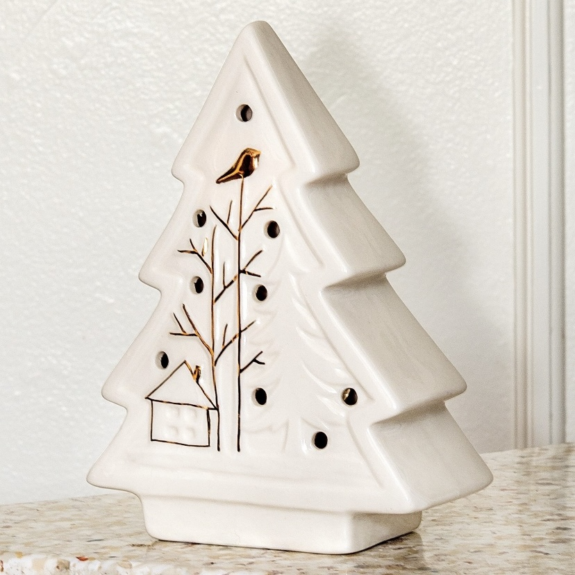 Ceramic White Illuminated Christmas Tree