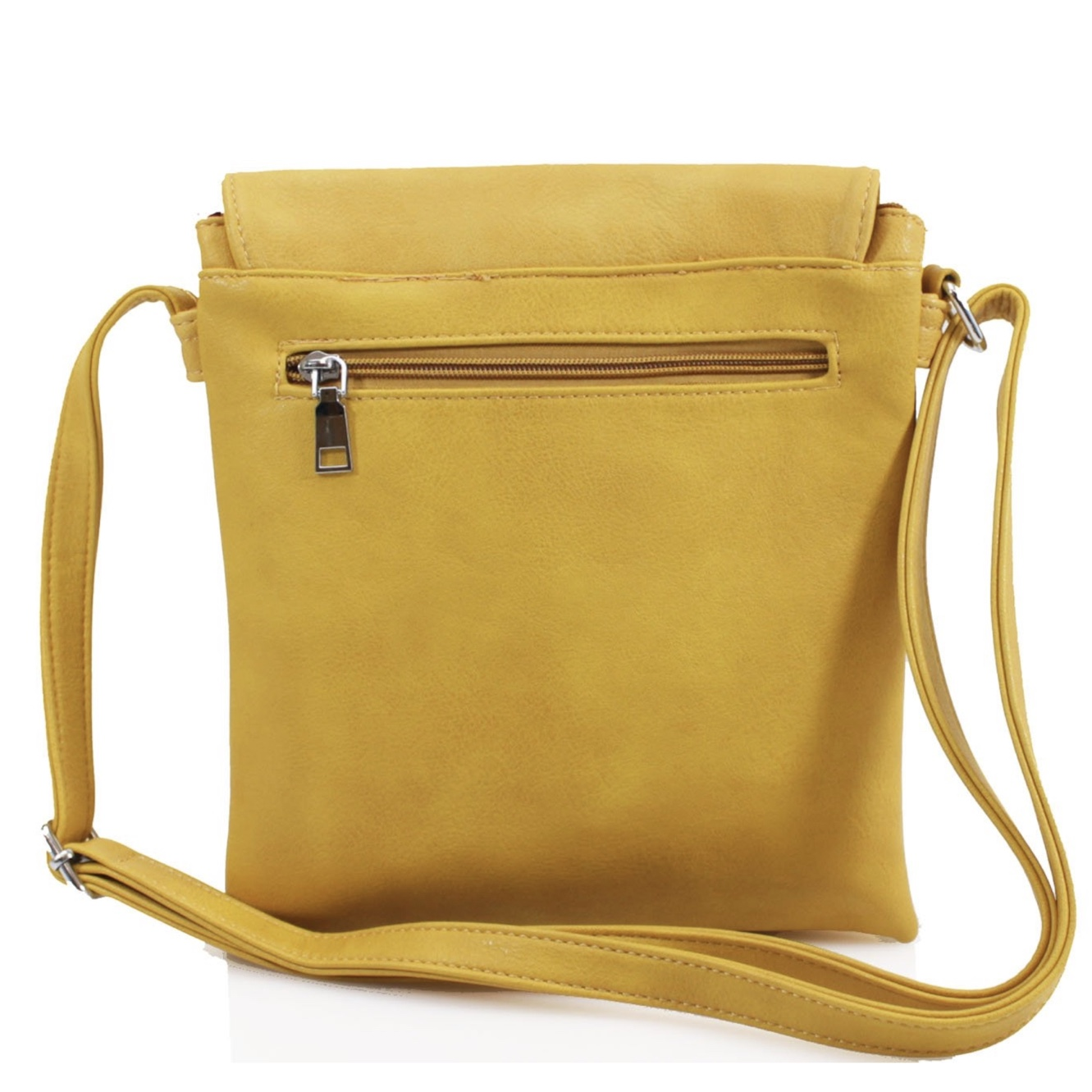 Asymmetric Multi Pocket Messenger Bag - Various Colours