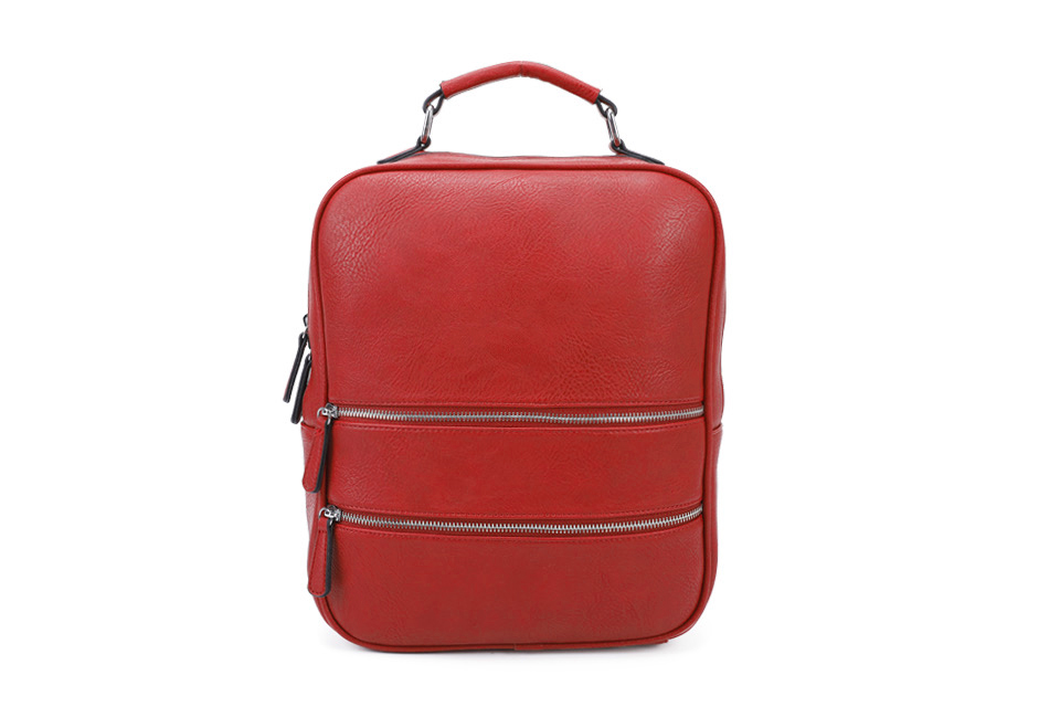 Multi Zip Back Pack - Red