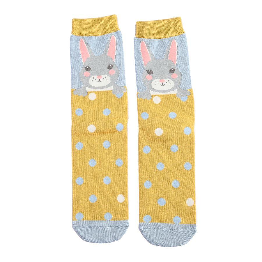Ladies Bunny Bamboo Socks - Powder Blue