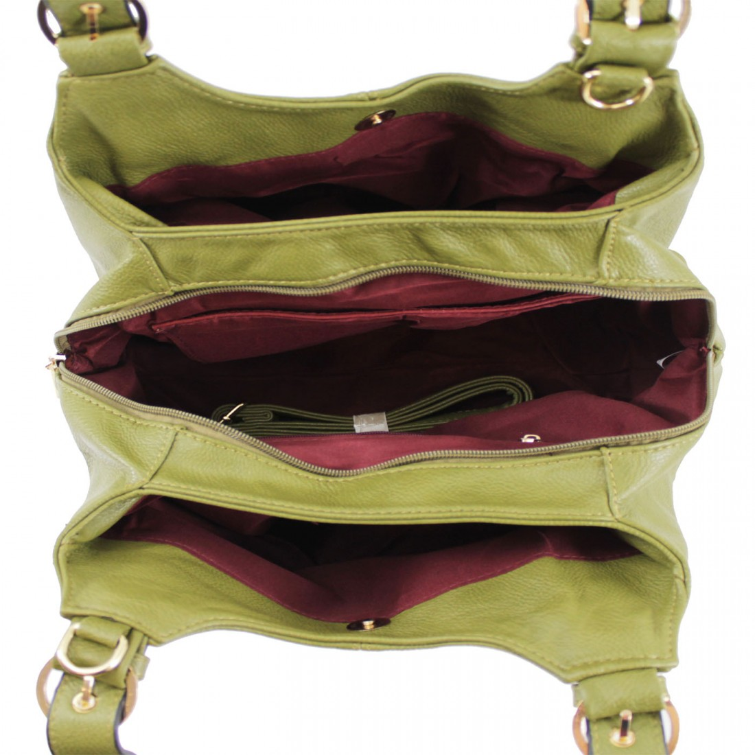 3 Section Buckle Shoulder Bag - Various Colours
