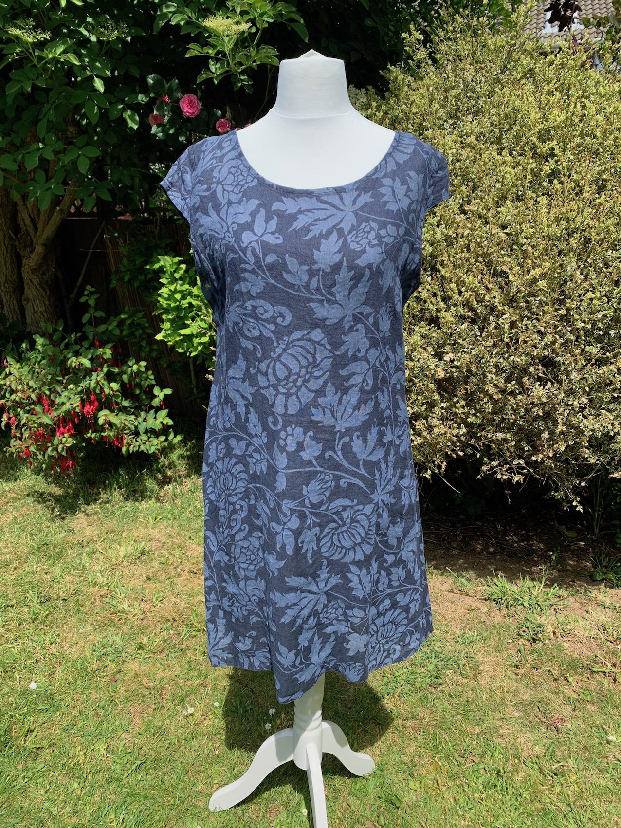 Italian Foliage Print Linen Dress - Various Colours
