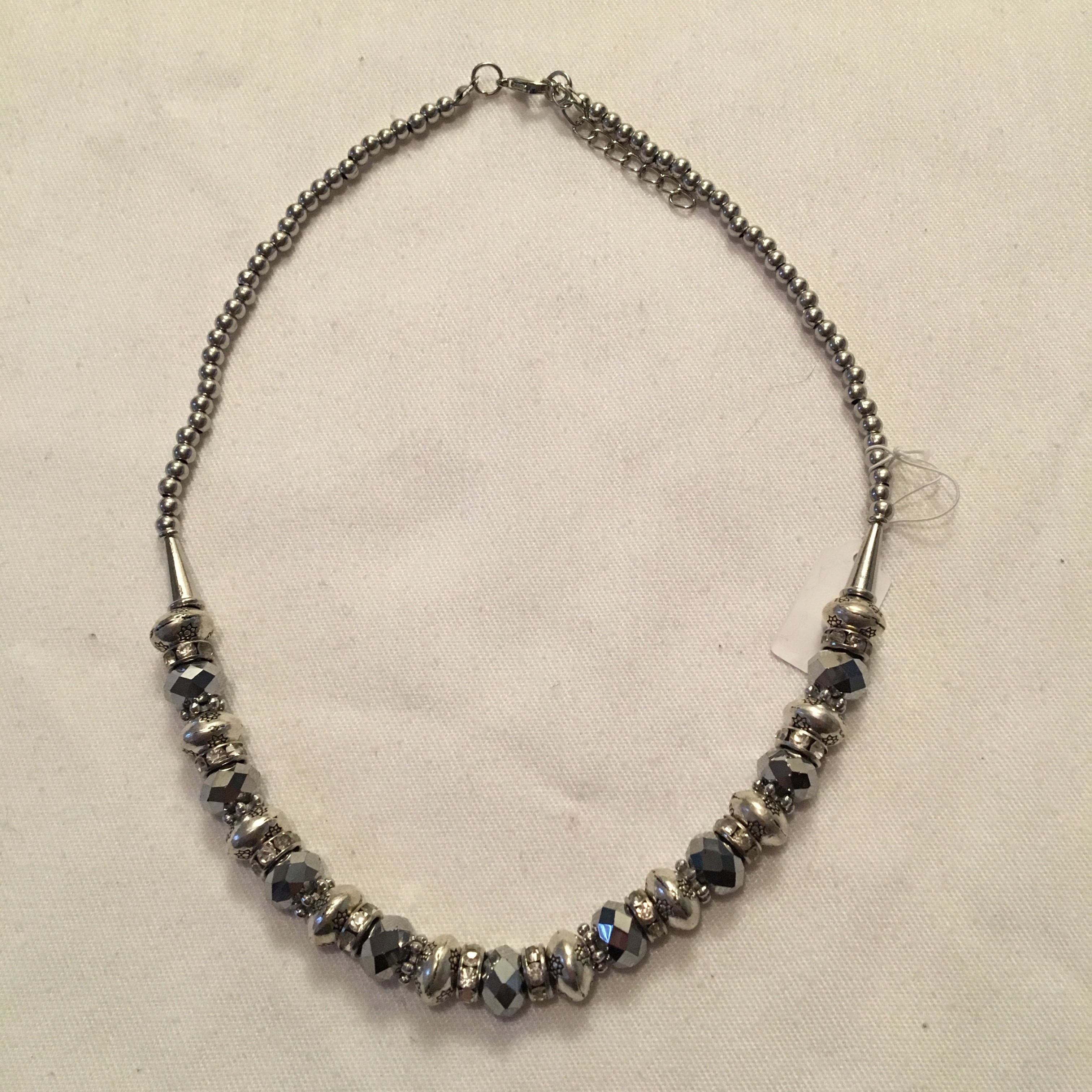 Crystal Necklace Silver