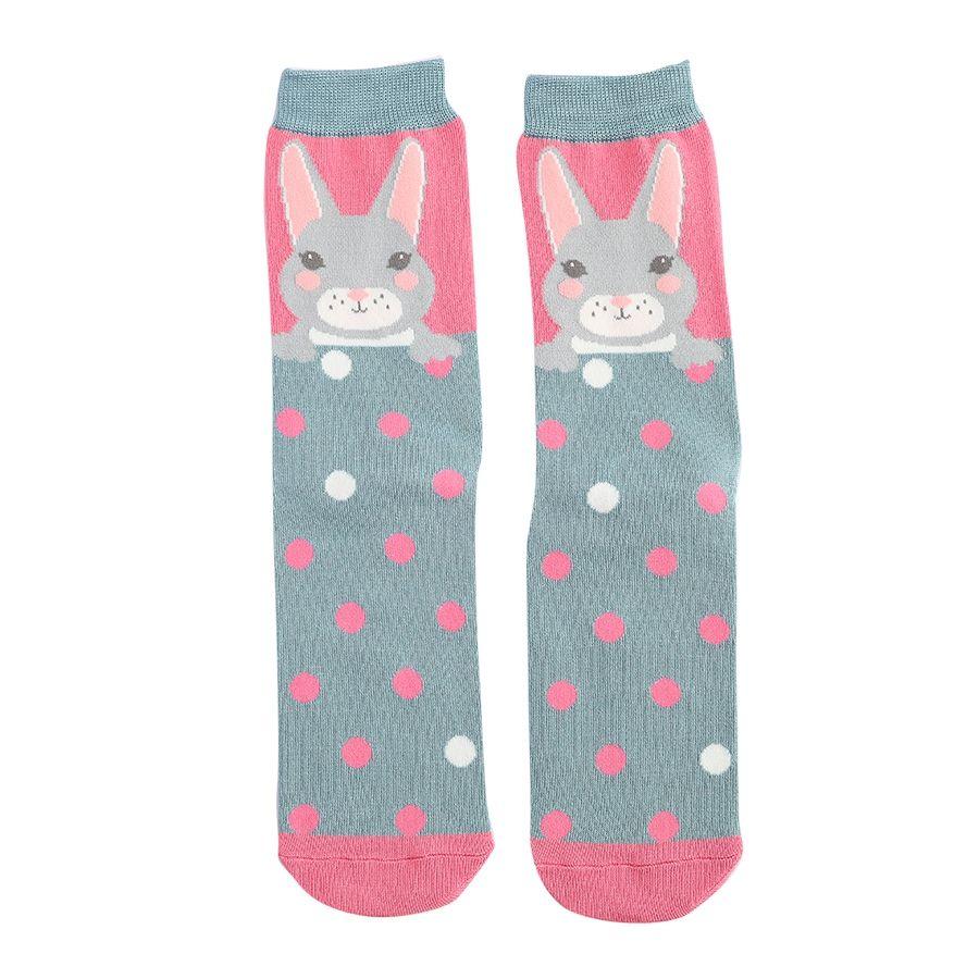 Ladies Bunny Bamboo Socks - Pink
