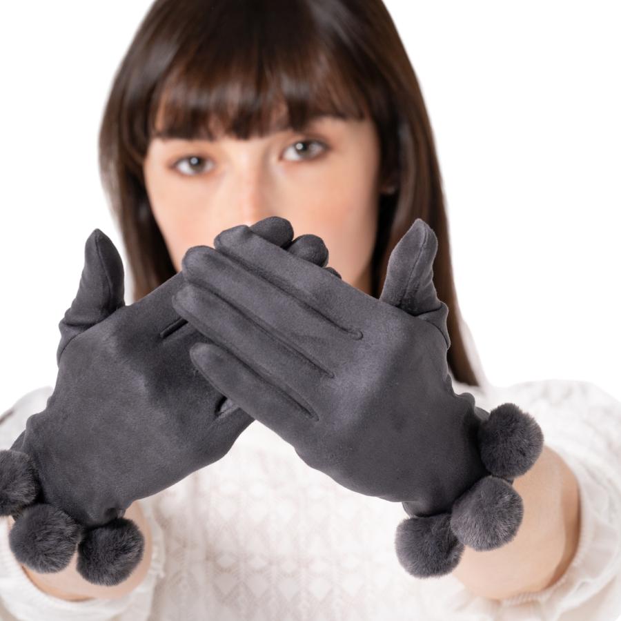 Pom Pom Gloves - Various Colours