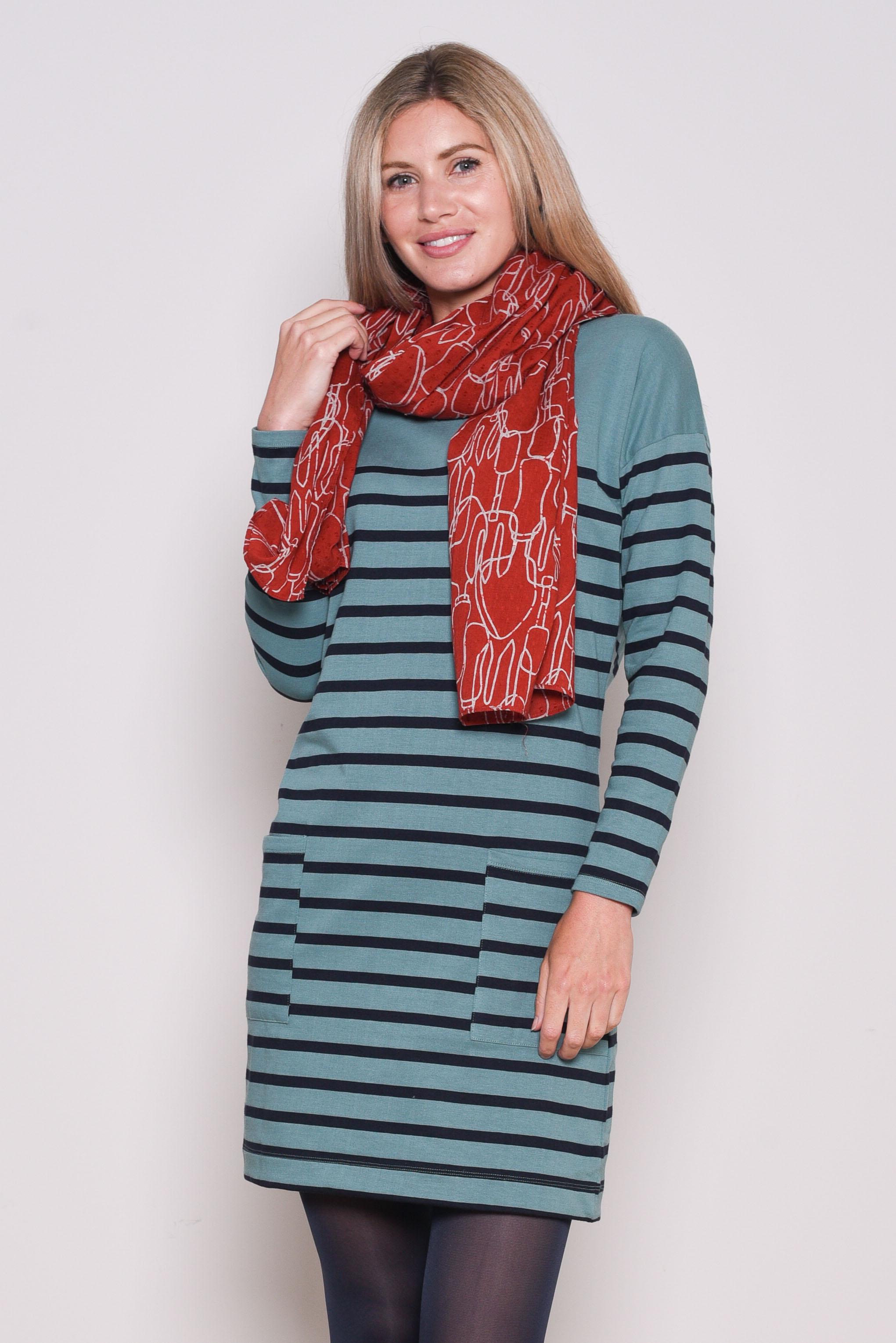 Brakeburn Block Stripe Dress - Size 20 only