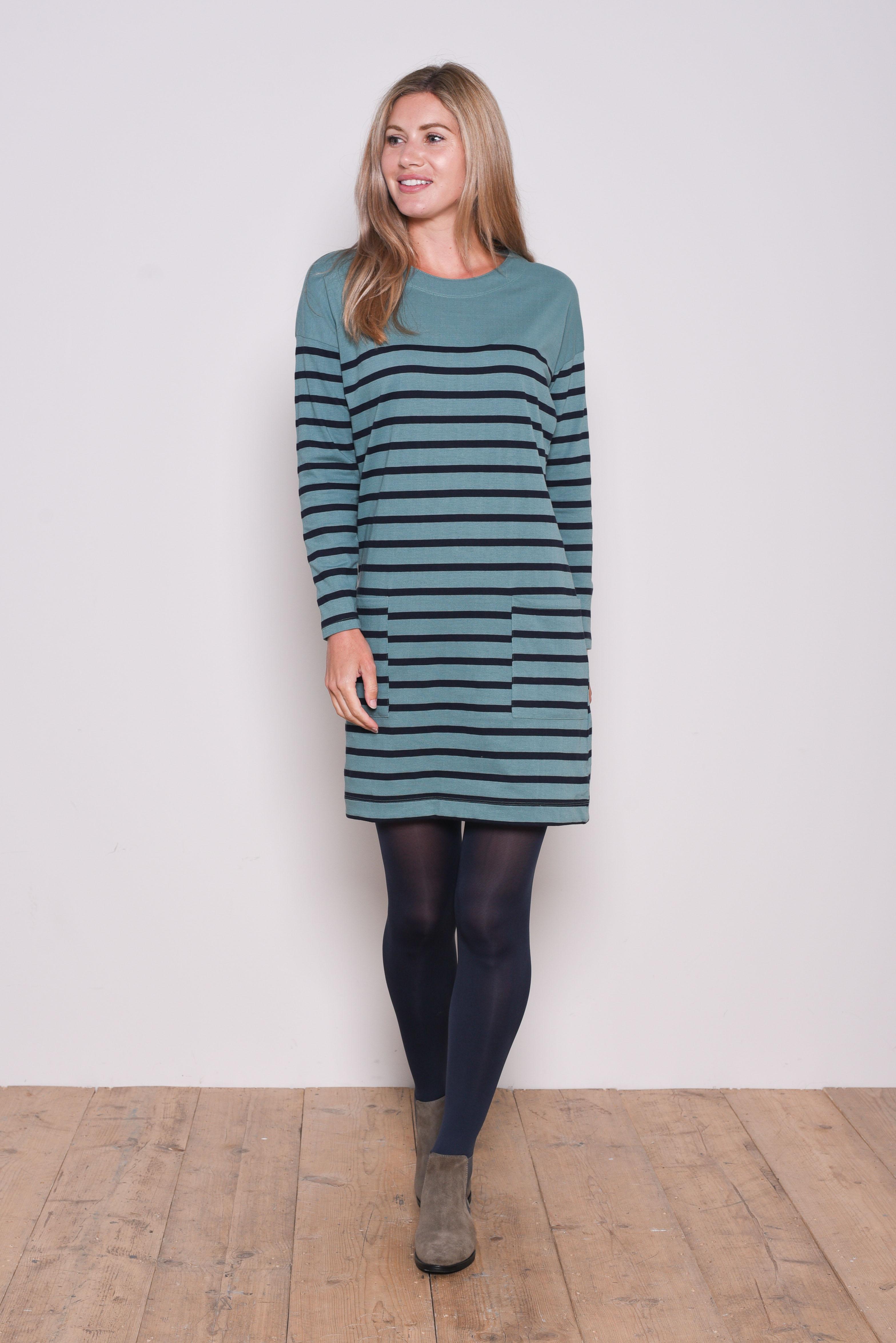 Brakeburn Block Stripe Dress