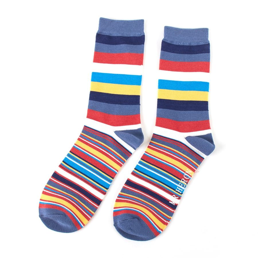 Men's Multi Stripe Bamboo Socks - Multicolour