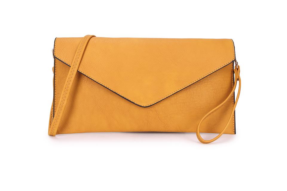 Envelope Clutch Bag - Mustard
