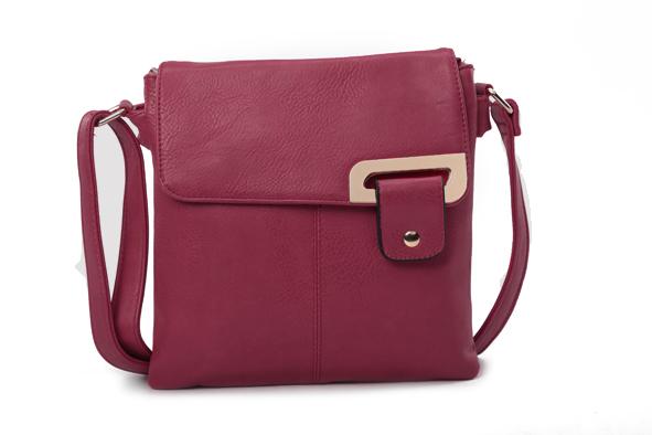 Asymmetric Multi Pocket Messenger Bag - Various Colours