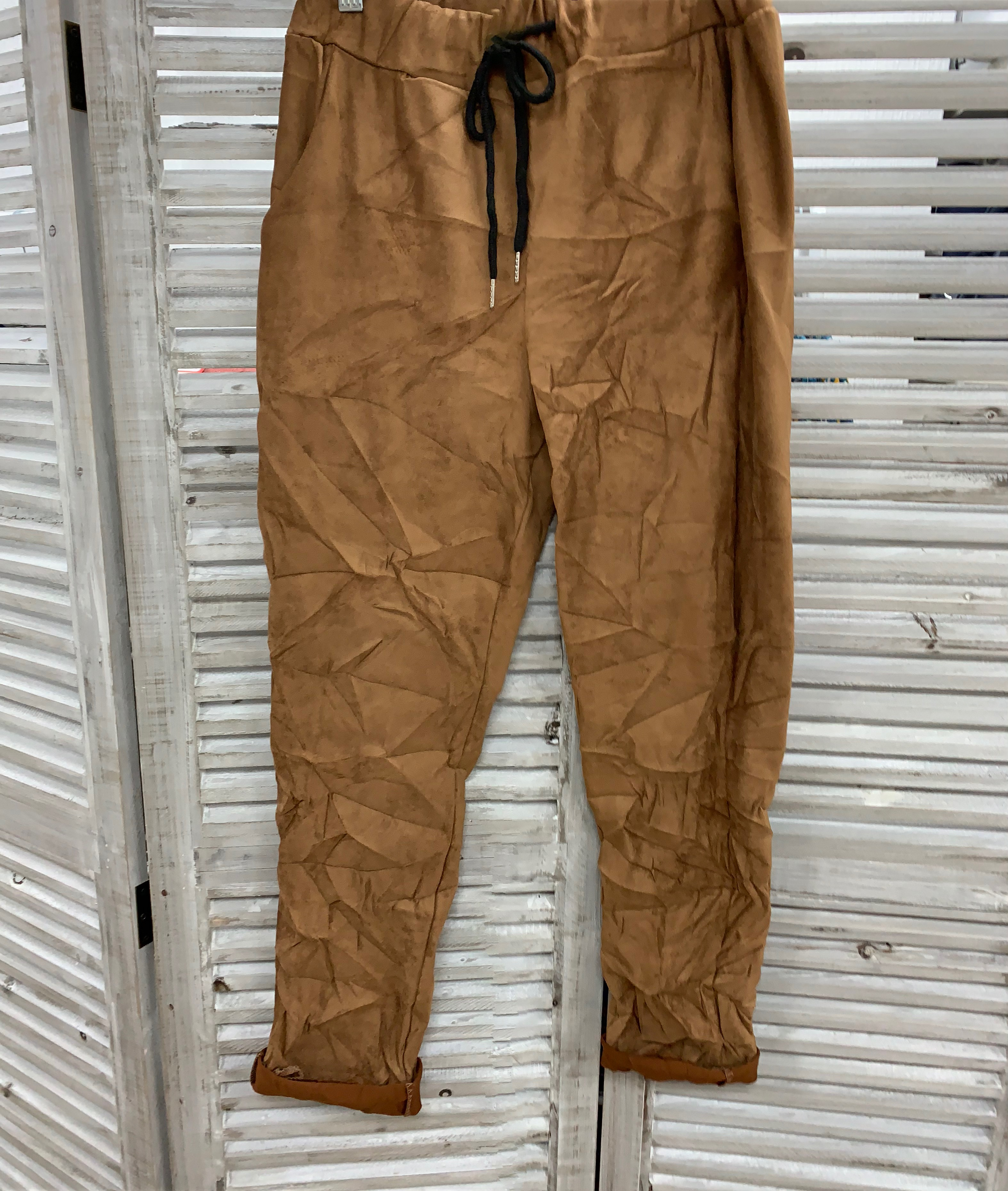 Magic Trousers Suede Effect - Various Colours
