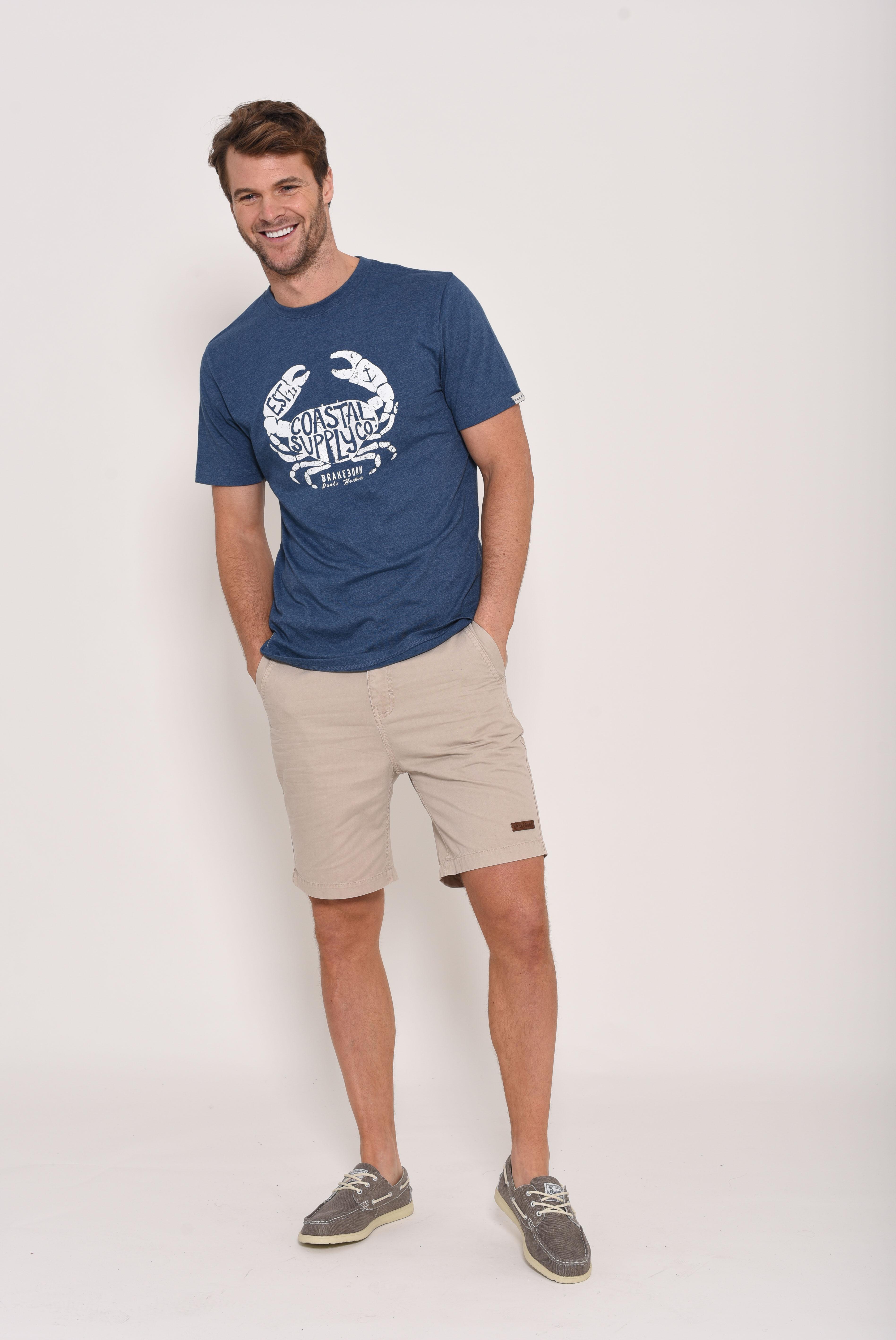 Brakeburn Coastal Supply T-Shirt - Navy