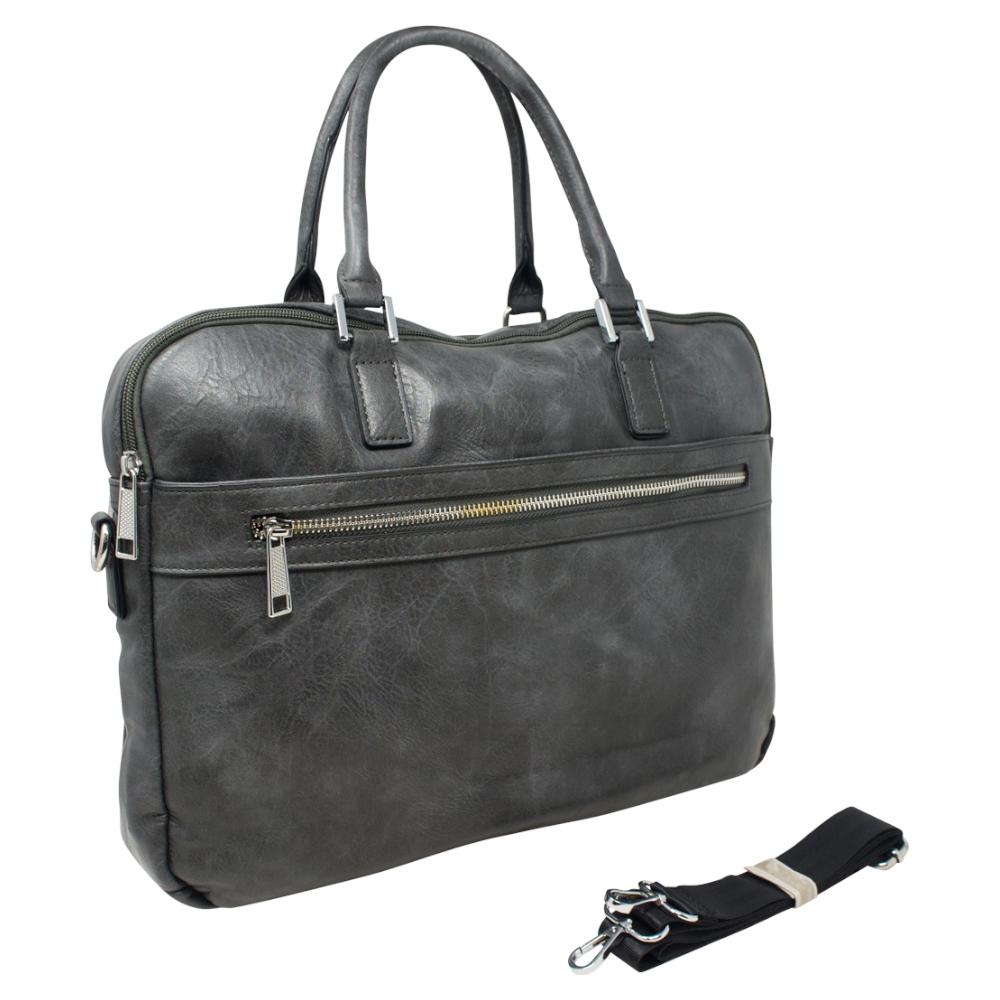 Soft Briefcase Bag - Grey