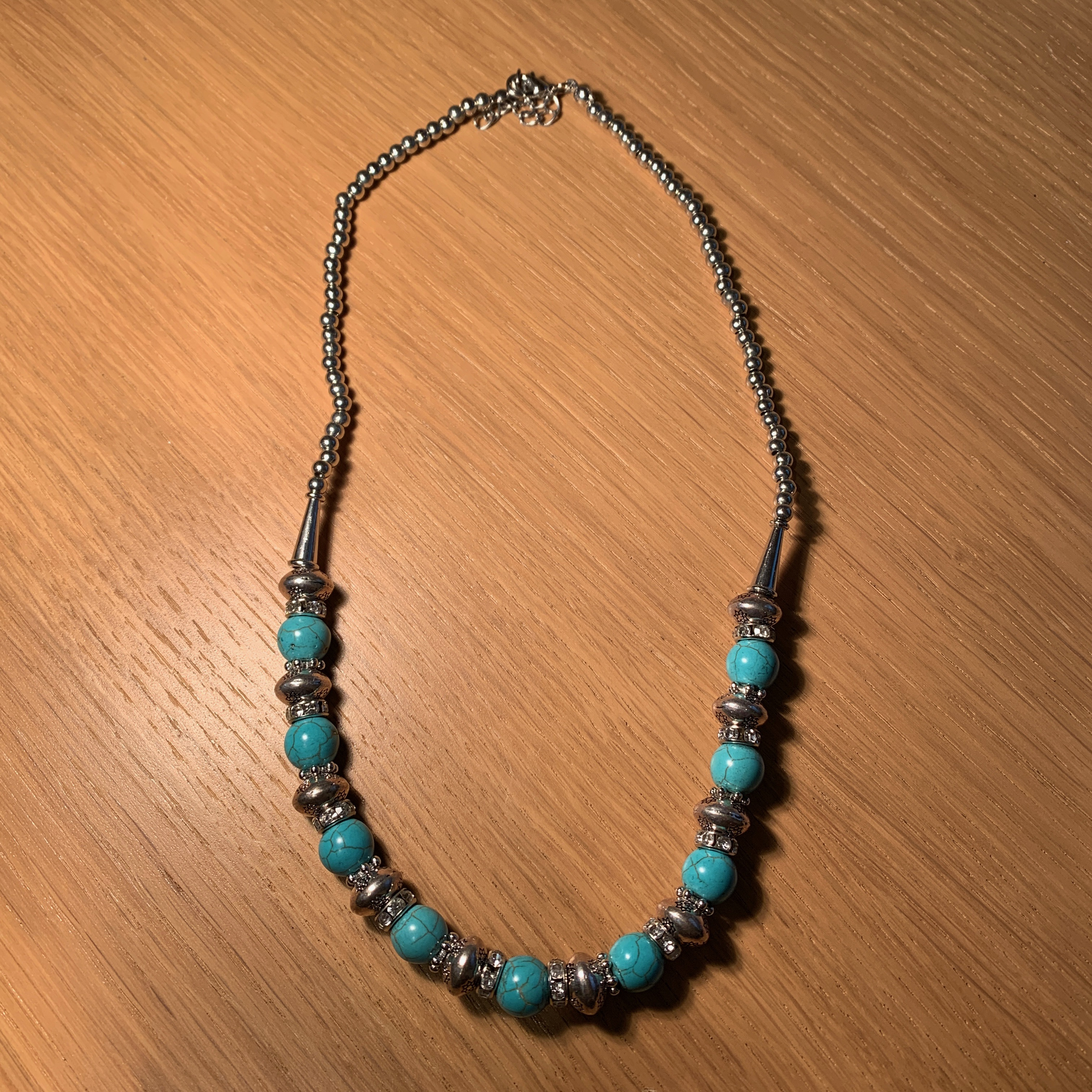 Crystal Necklace Turquoise