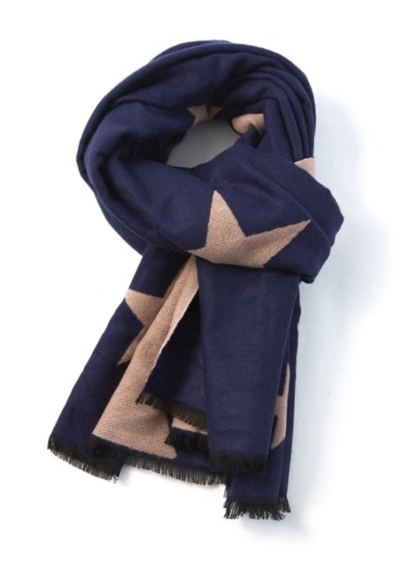 Terry Blanket Scarf Stars - Various Colours