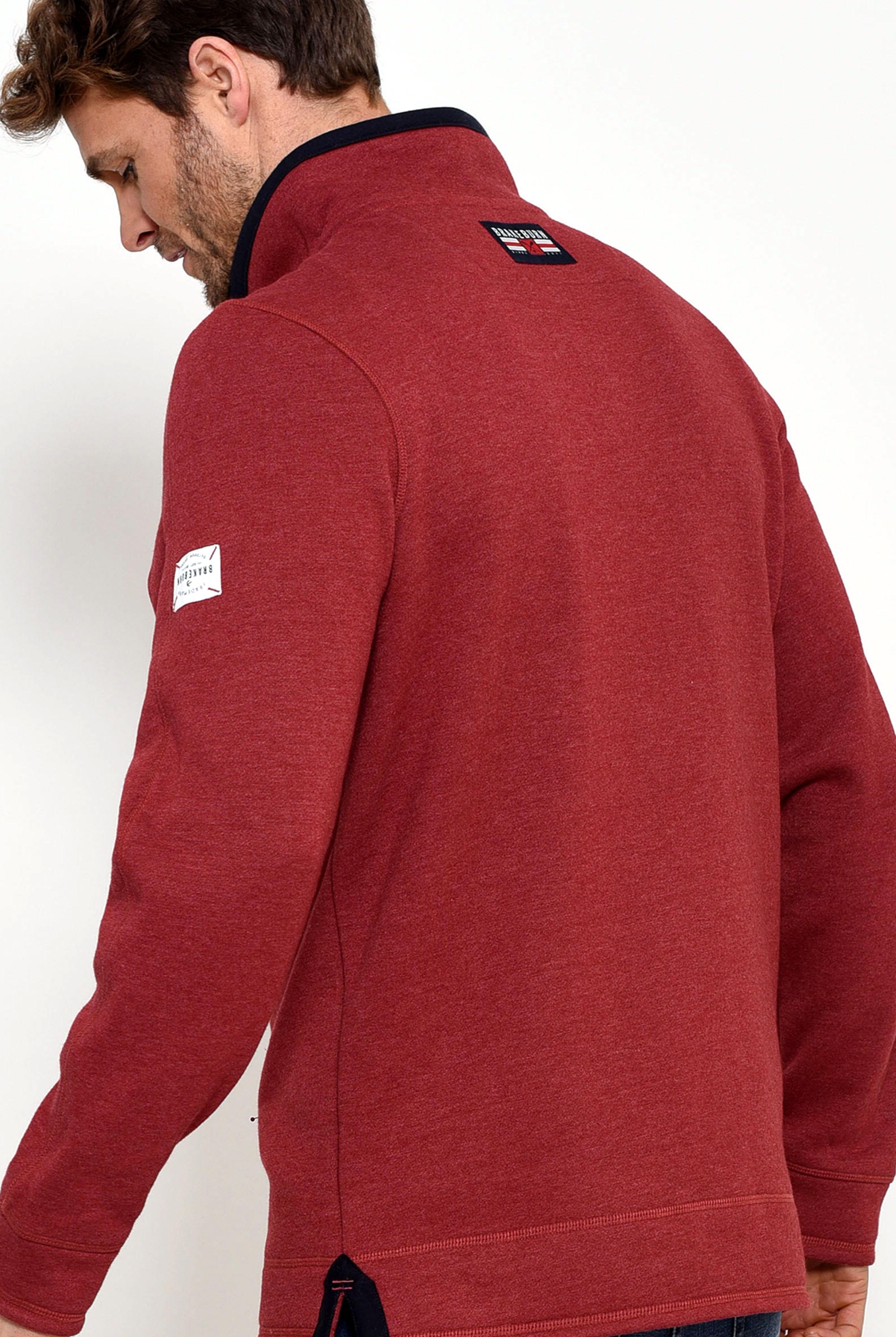 Brakeburn 1/4 Zip Sweat - Red