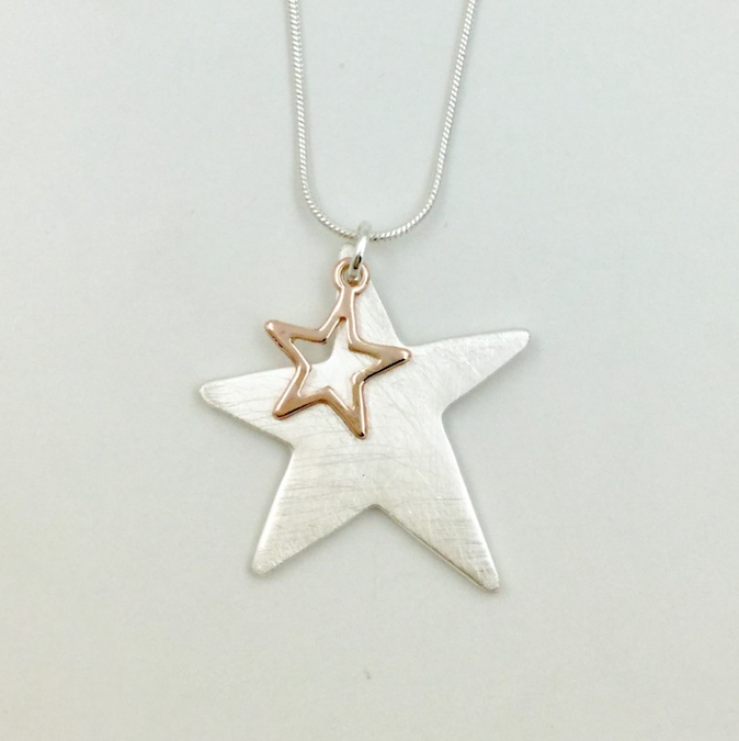 Star Necklace - Rose Gold/Silver