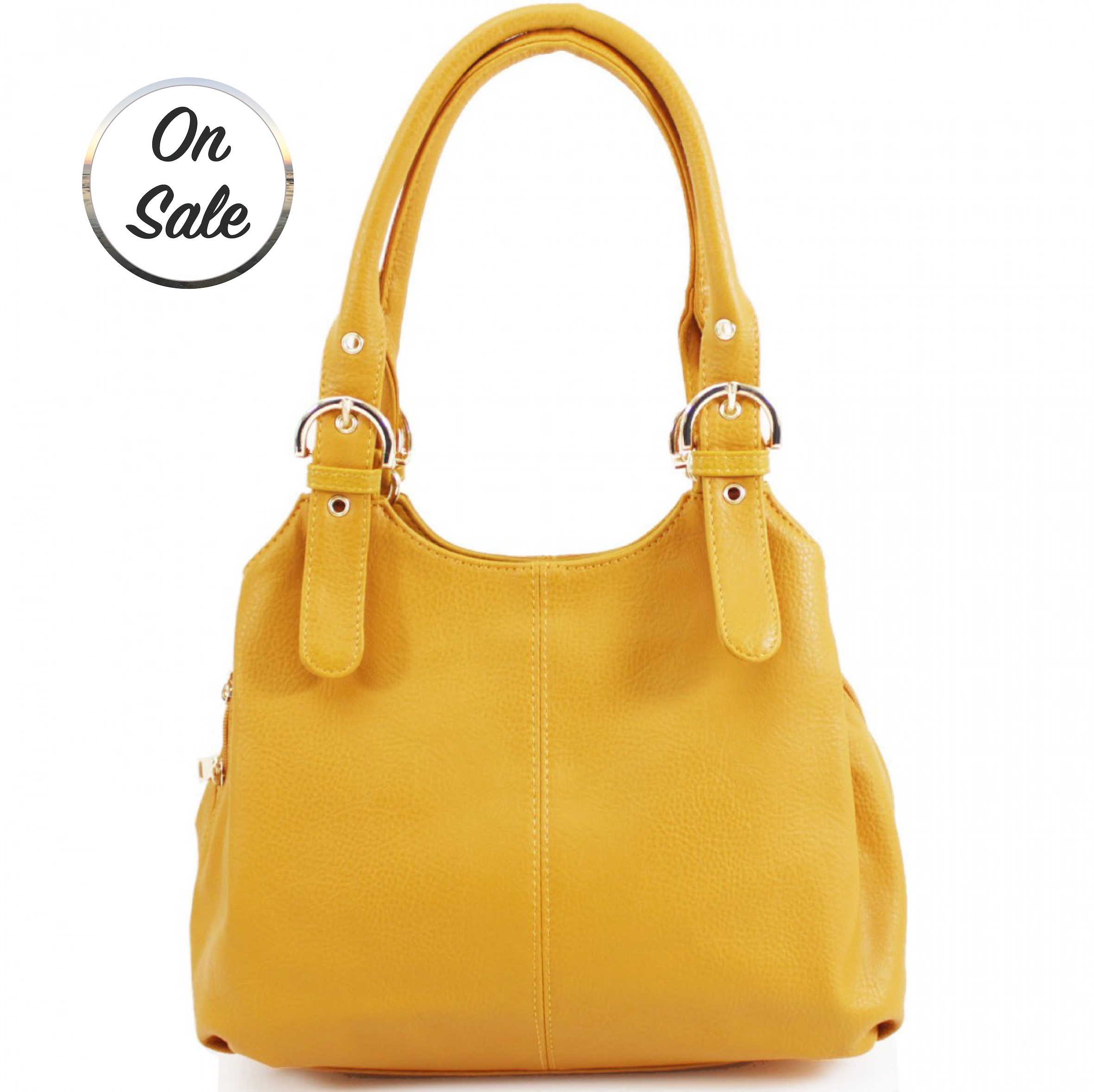 3 Section Buckle Bag - Yellow