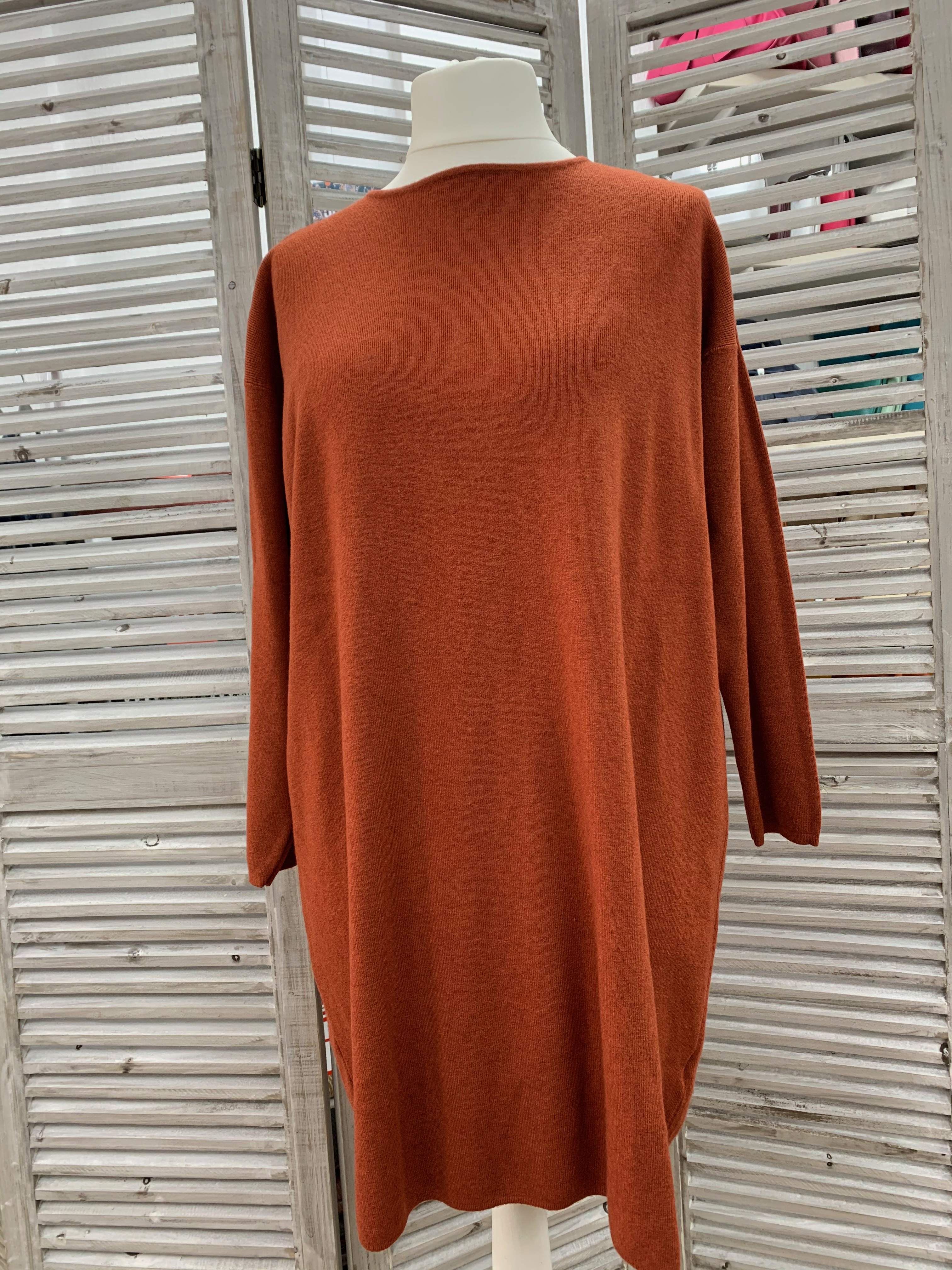 Knitted Jumper Dress - Various Colours