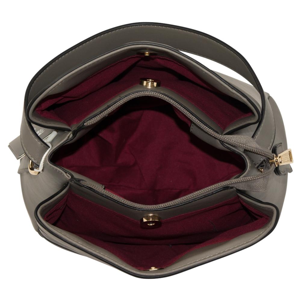 Alpini Multi Tone Striped Handbag - Grey