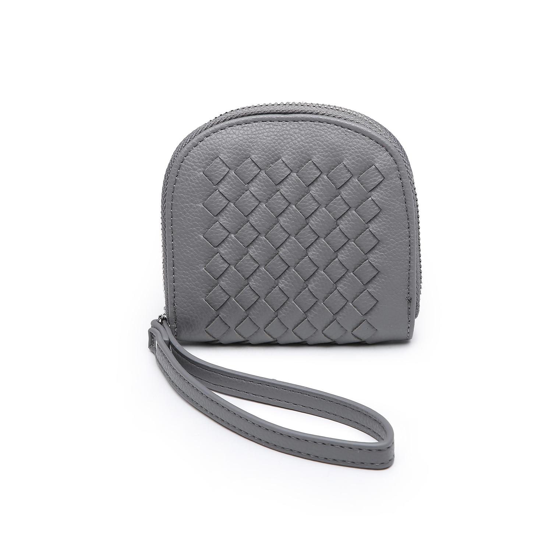 Mini Quilted Clutch Purse - Grey
