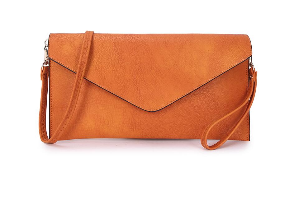 Envelope Clutch Bag - Orange