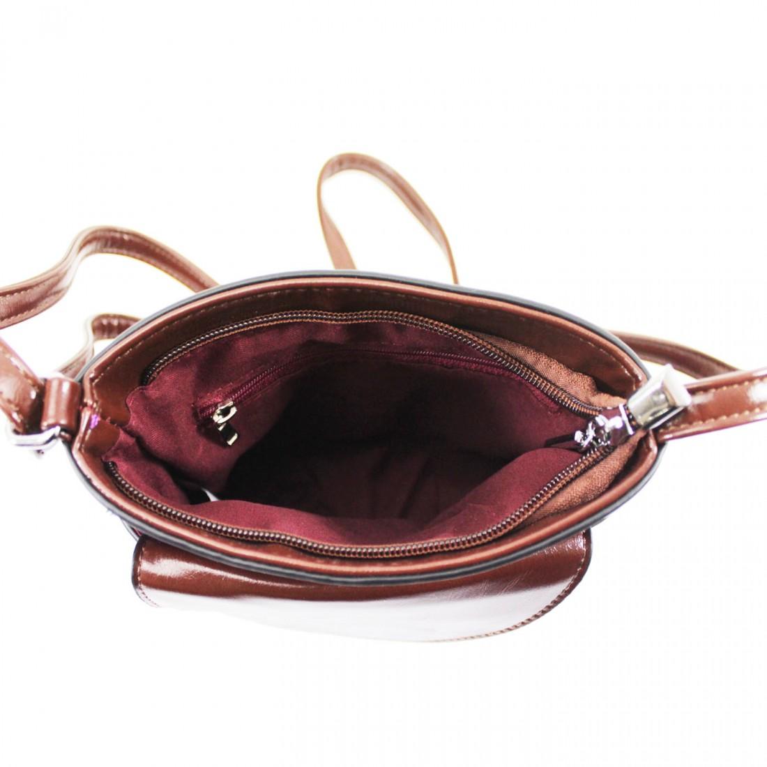 2 Tone Small Cross Body Handbag - Dark Grey