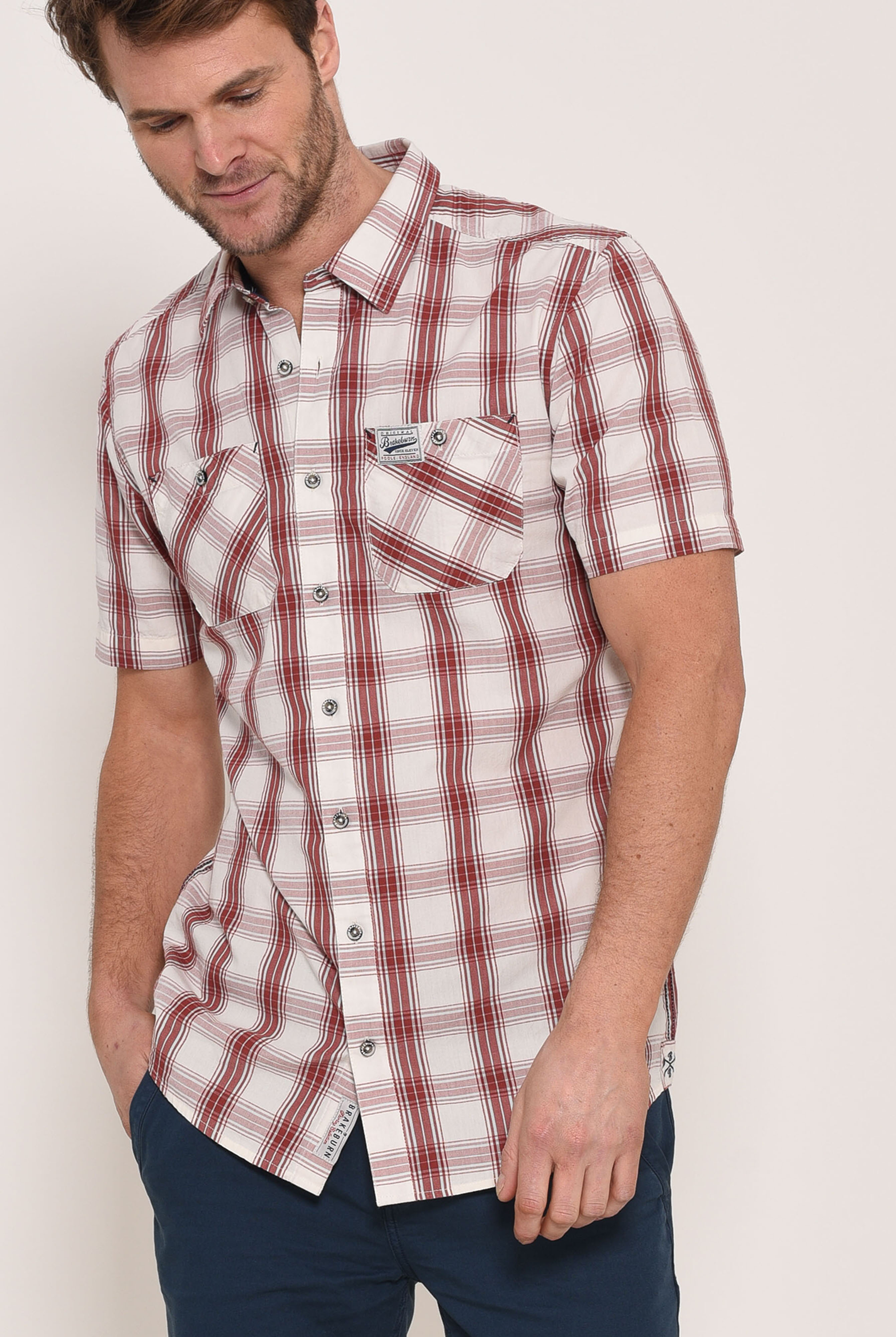 Brakeburn Short Sleeve Shirt - Red Check