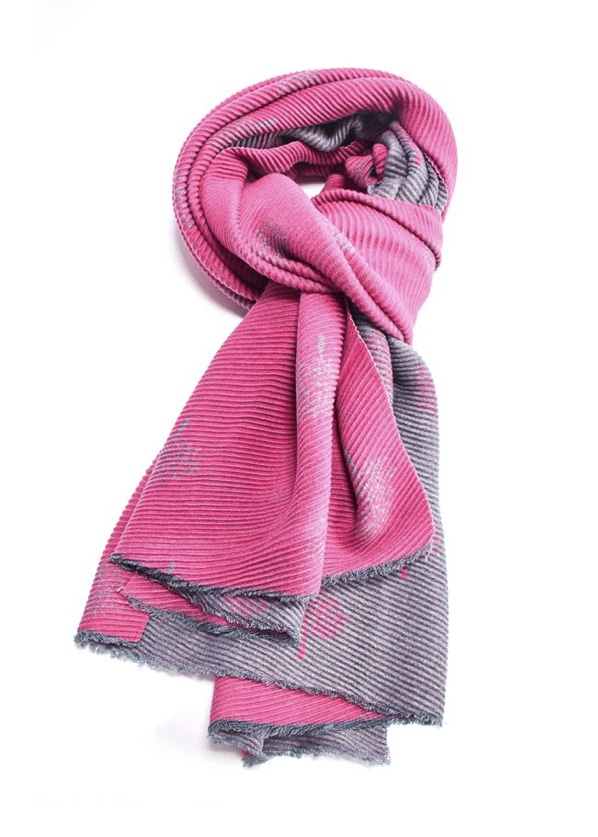 Pleated Blanket Scarf Trees - Various Colours