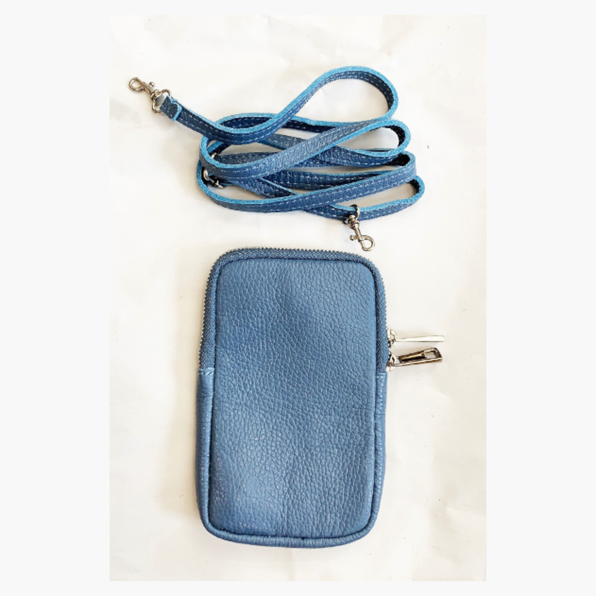 Real Leather Cross Body Mobile Pouch - Various Colours