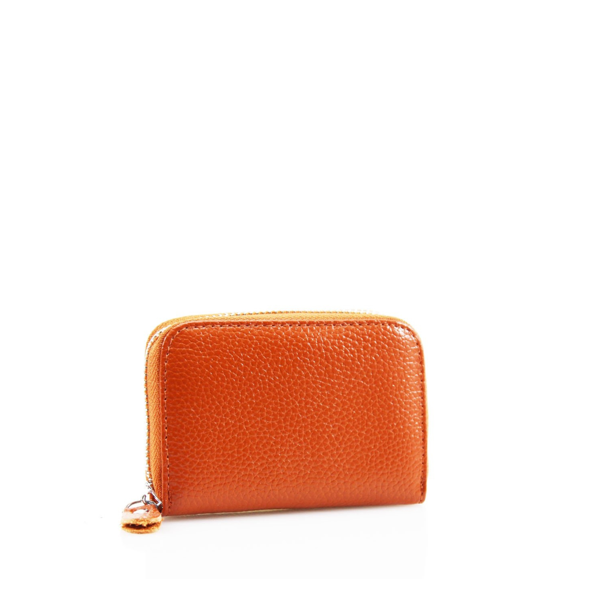 Single Zip Leather Card Wallet - Various Colours