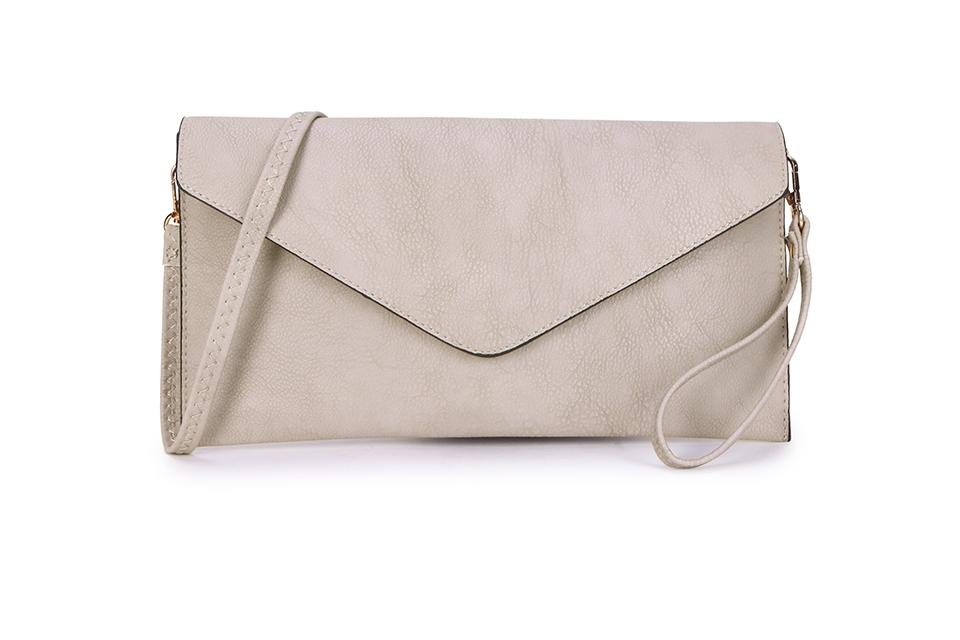 Envelope Clutch Bag - Cream