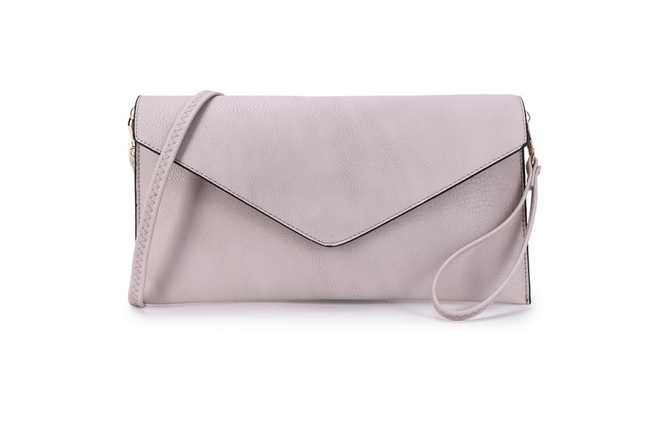 Envelope Clutch Bag - Light Grey
