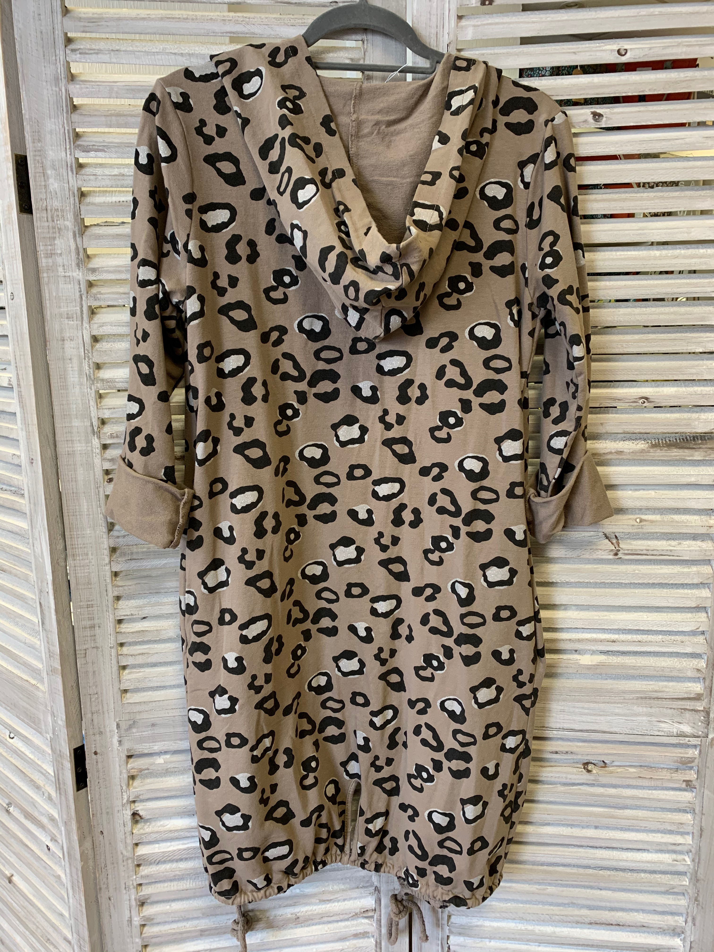 Hooded Leopard Print Casual Jacket - Various Colours
