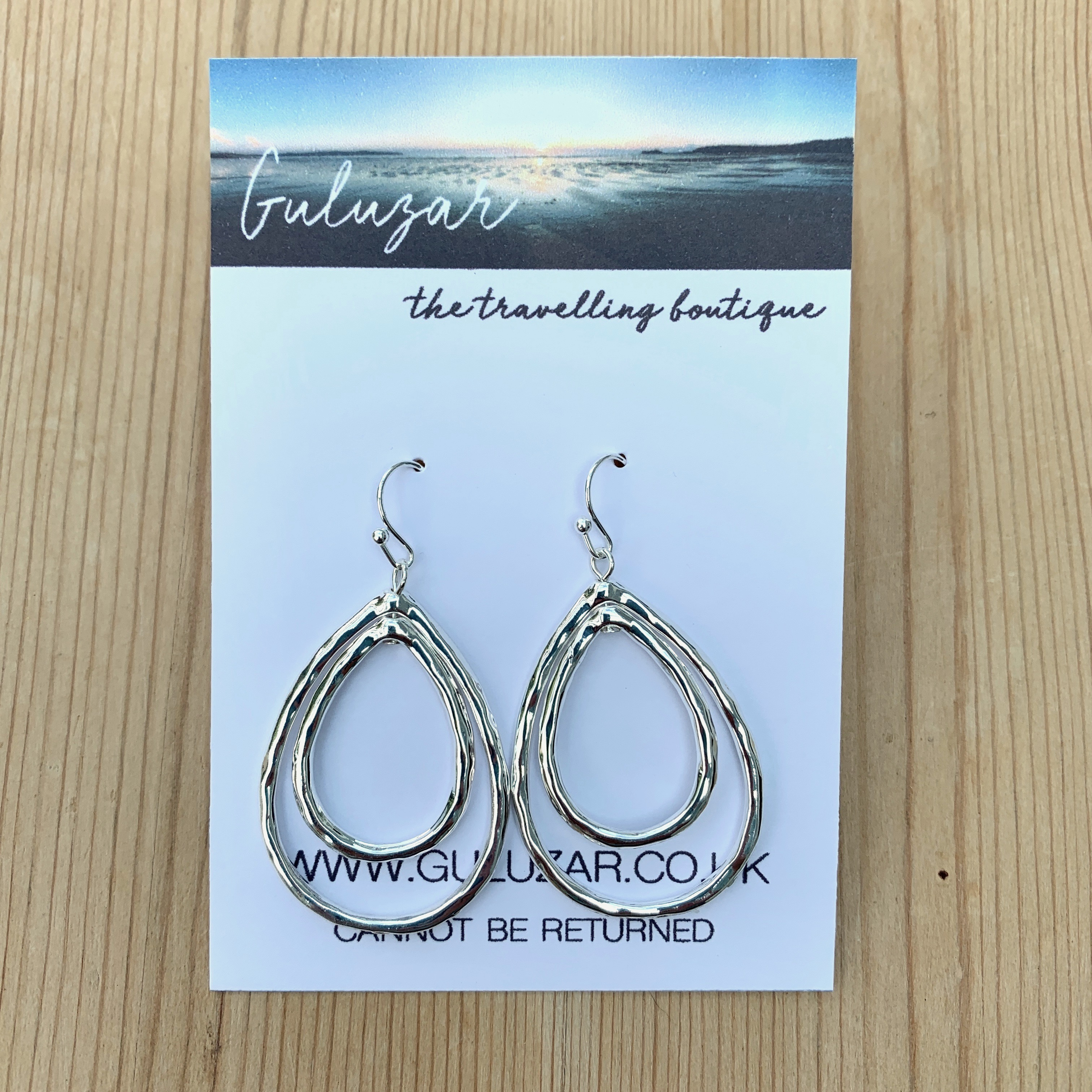 Tear Drop Earrings - Silver