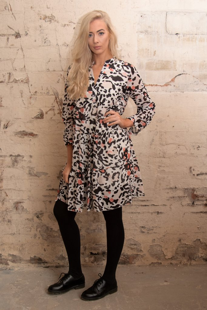 Leopard Print Tier Dress - Size S-M 6-12