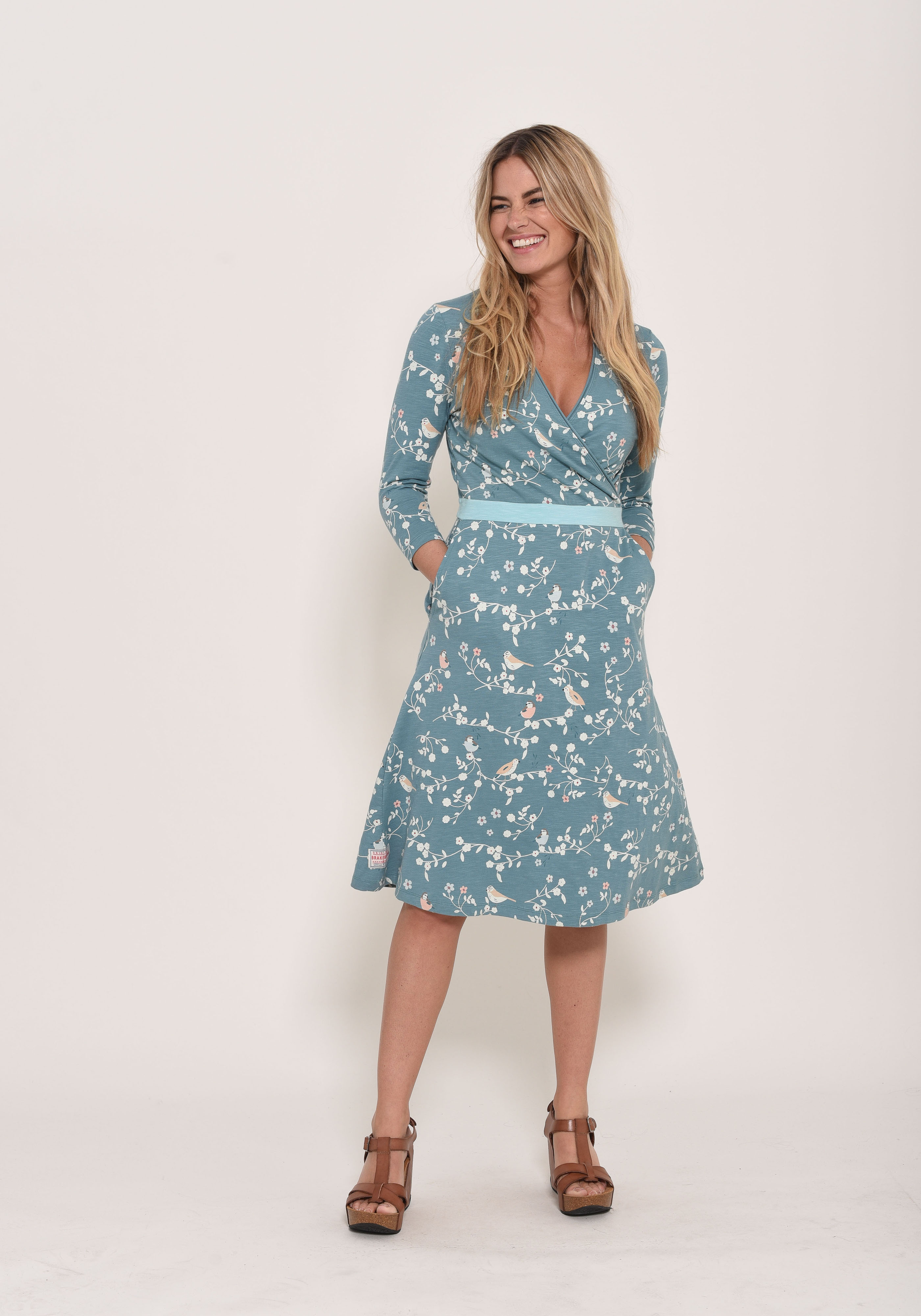 Brakeburn Bird Blossom Wrap Dress
