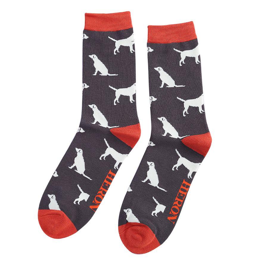 Men's Labrador Bamboo Socks - Grey