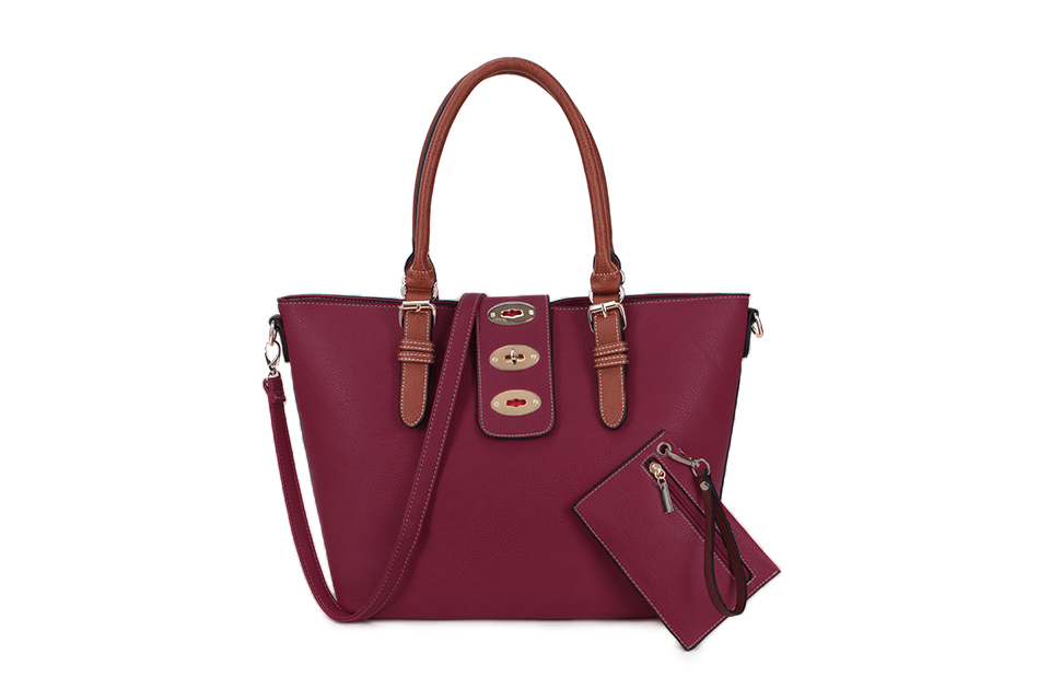 Large Luxury Shopper with Purse - Various Colours