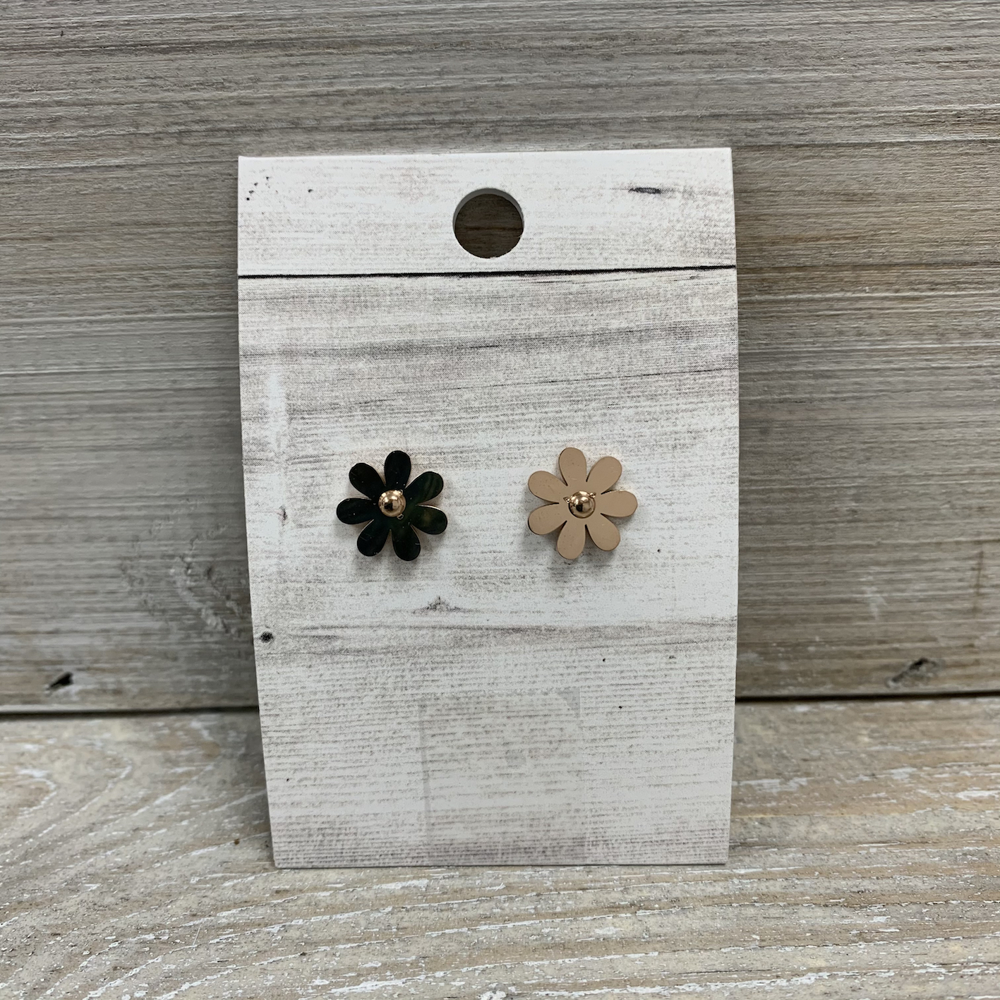 Flower Stud Earrings - Rose Gold