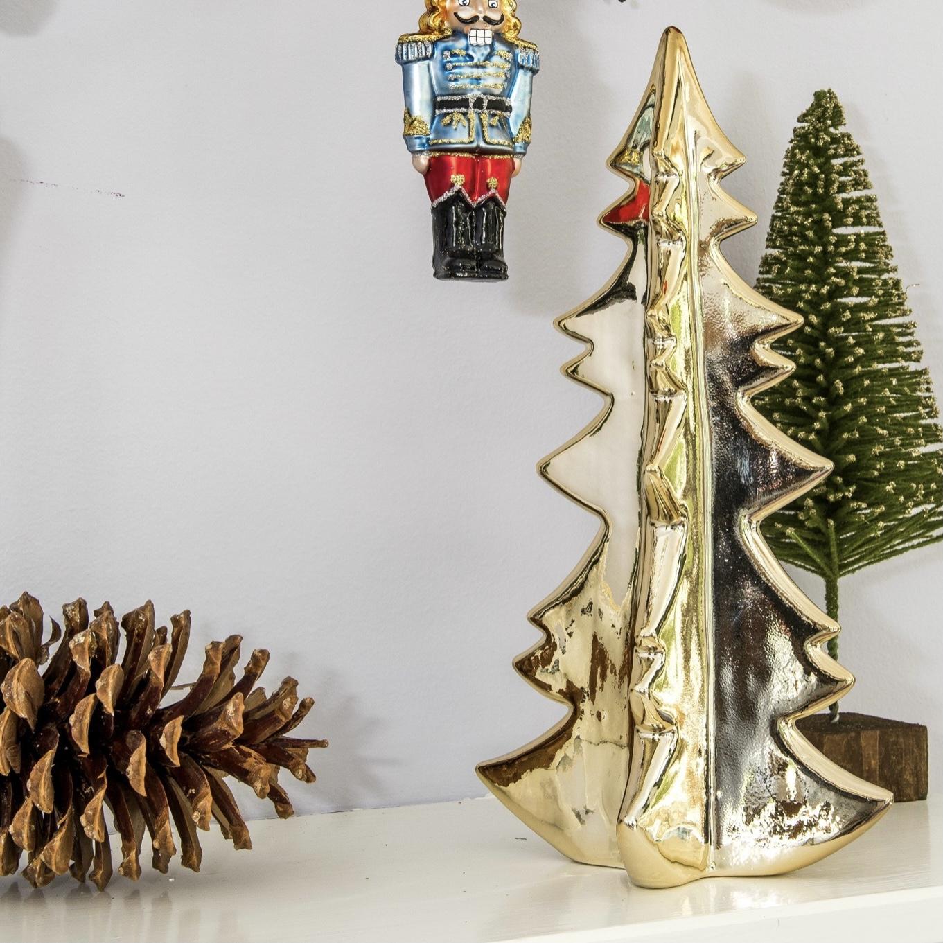 Ceramic Gold Decorative Christmas Tree