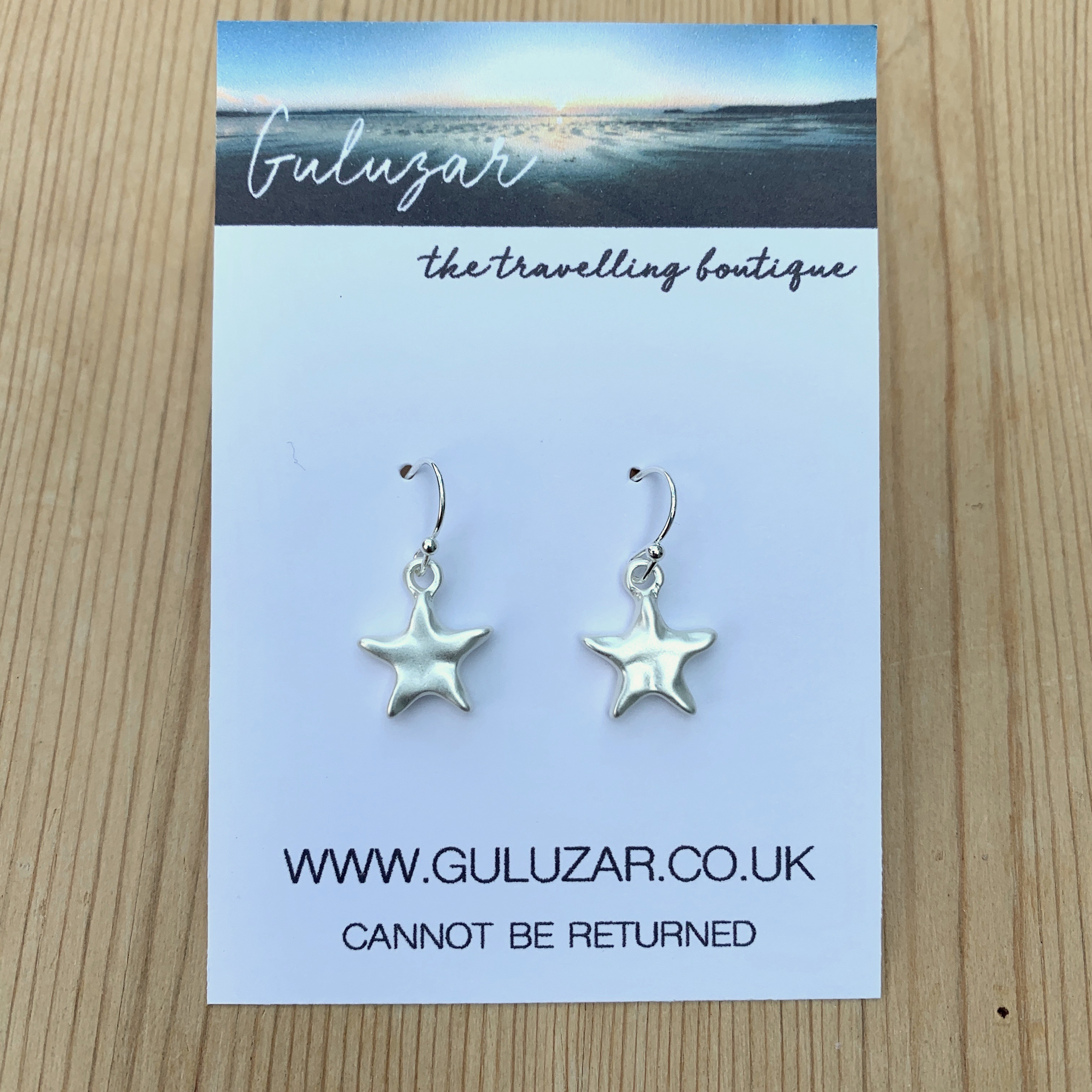 Starfish Matte Earrings - Silver