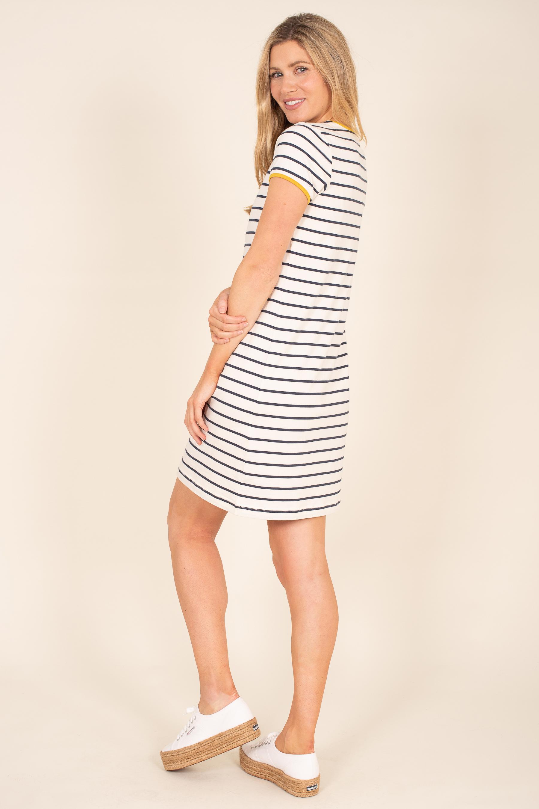 Brakeburn Organic Cotton Stripe Jersey Dress