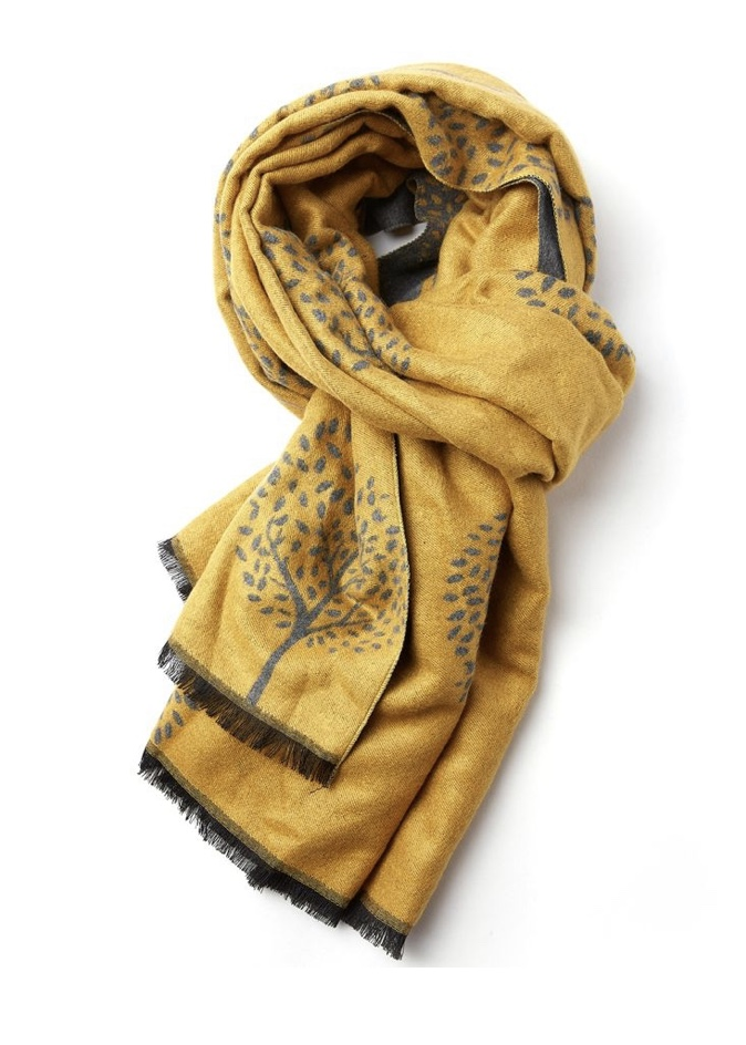Terry Blanket Scarf Trees - Various Colours