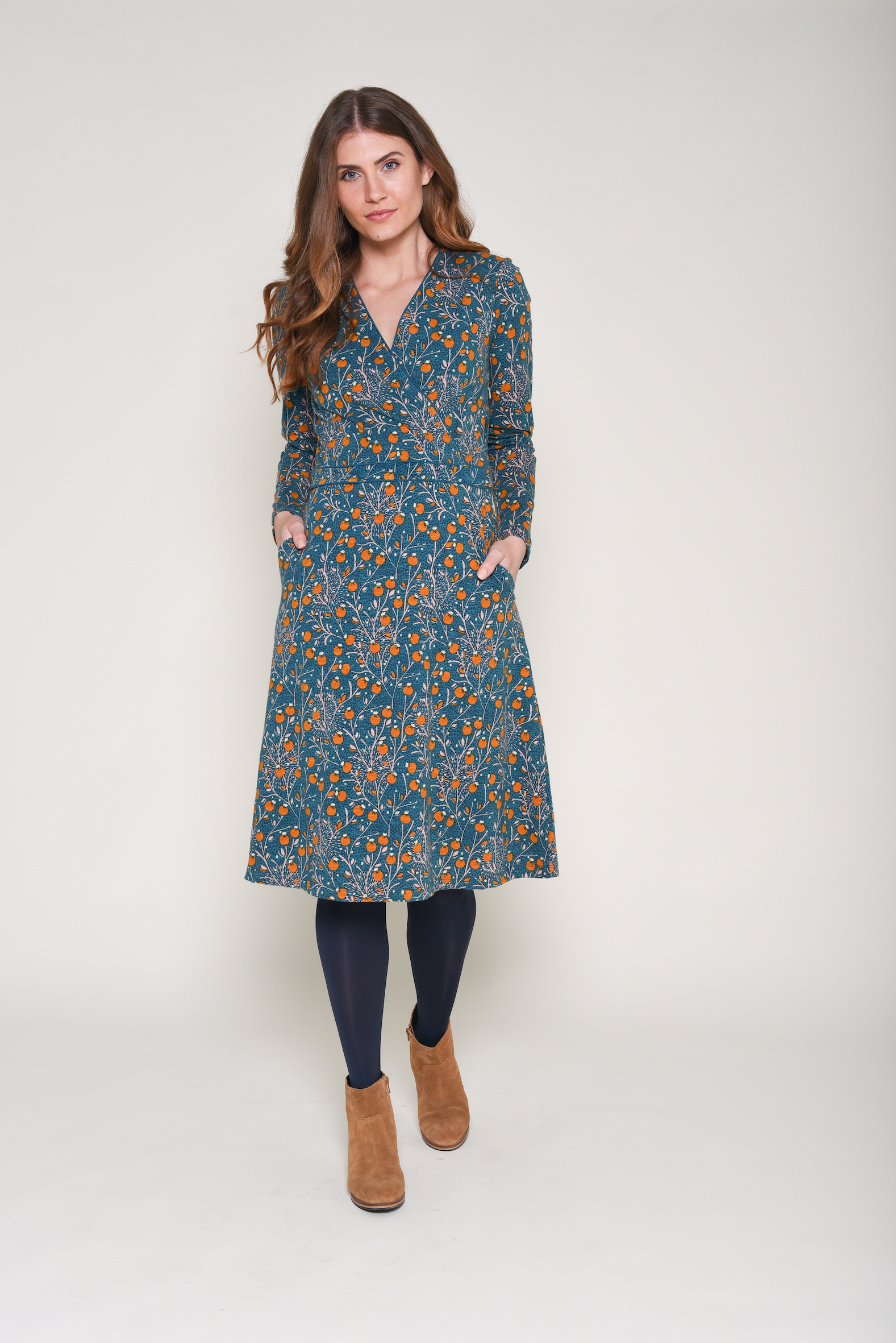 Brakeburn Berry Trail Wrap Dress