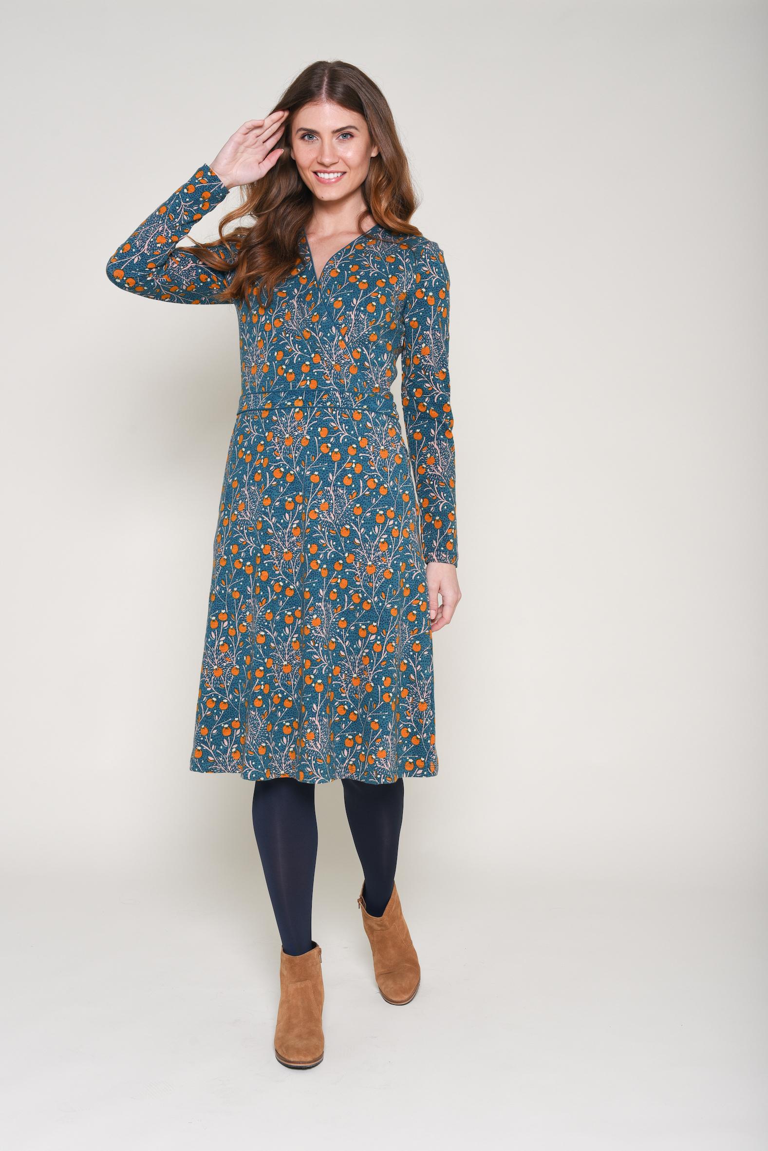 Brakeburn Berry Trail Wrap Dress - size 18 only