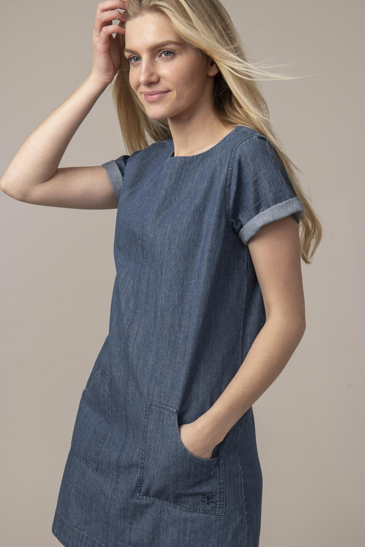 Lighthouse Anna Dress - Washed Denim