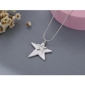 Star Outline Necklace & Earrings Set - Various