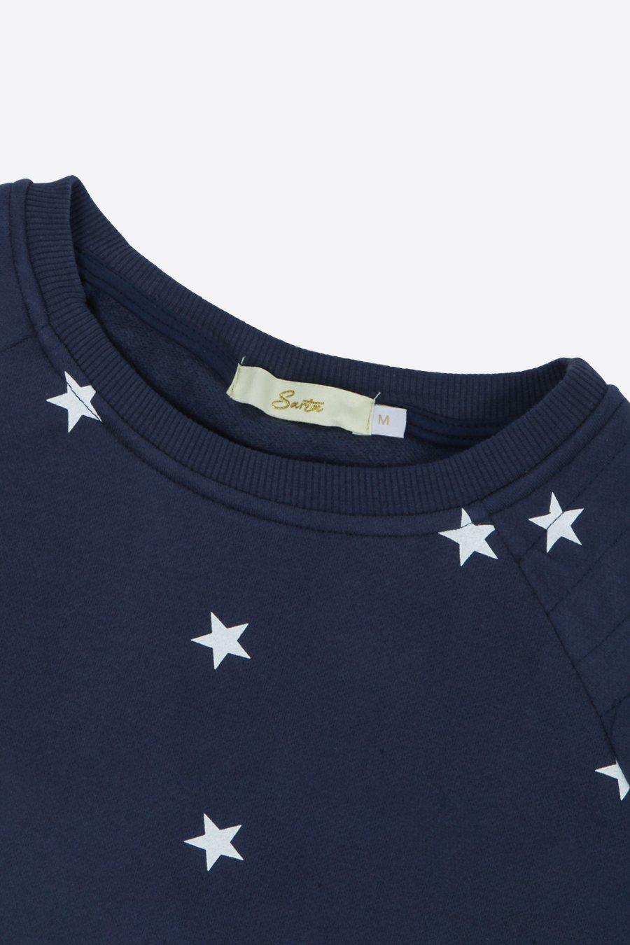 All Over Star Sweatshirt - Navy Blue