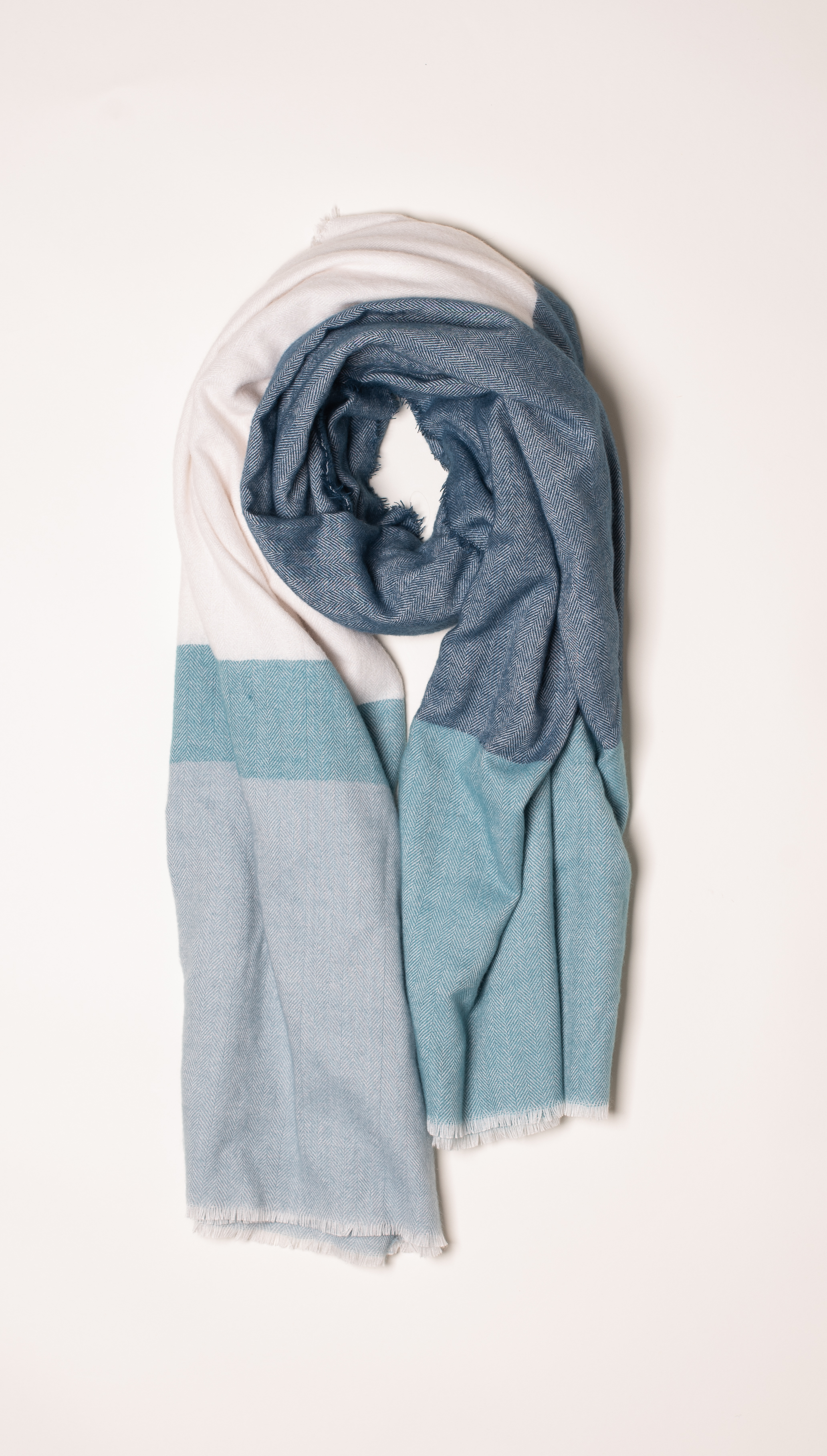 Brakeburn Colour Block Blanket Scarf - Teal